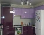 Угловая кухня сирень вишня