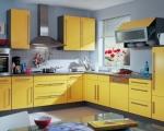 кухня угловая желтая